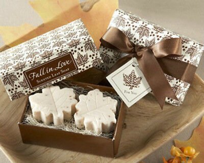 Fall in Love Scented Leaf Shaped Soaps Soap Bridal Shower Wedding Favor ()
