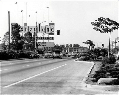 1962 Disneyland Sign Photo 8x10 - Park Entrance  Buy Any 2 Get 1 Free