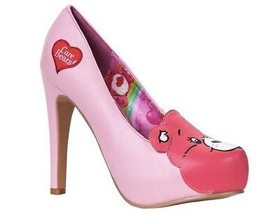IRON FIST CAREBEARS STARE PLATFORM CARE BEAR PINK MAGIC HEELS SHOES SIZE 7-9