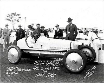 1925 Indy 500 Ralph DePalma #2 Racing Photo 8x10