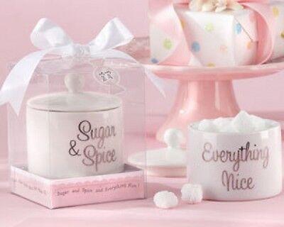 60 Sugar, Spice & Everything Nice Ceramic Sugar Bowl Baby Shower - Everything Baby Shower
