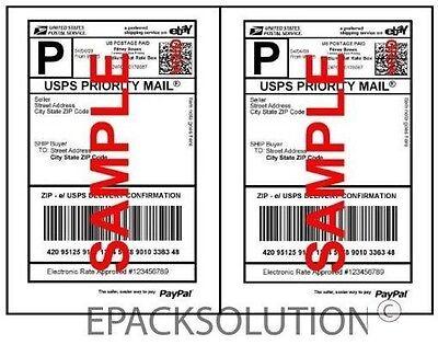 1000 Self Adhesive Shipping Labels 2sheet 5.5 X 8.5