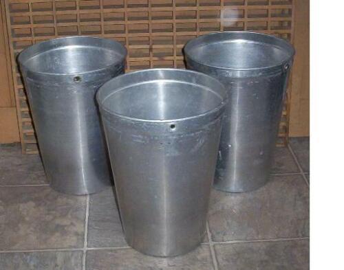 3 Aluminum Sap Buckets Maple Syrup Bucket VERY NICE