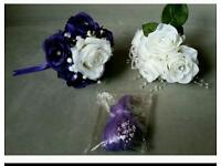 PURPLE & WHITE WEDDING POSES AND BALLOONS
