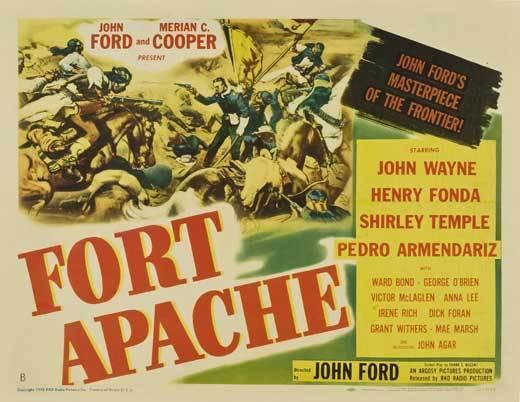 FORT APACHE Movie POSTER 22x28 Half Sheet B Henry Fonda John Wayne Shirley