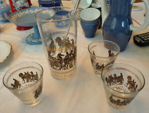 1960's Martini Shaker with 3 glasses - Psyche