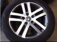 "4X GENUINE ORIGINAL VW GOLF JETTA SCIROCCO MK5 MK6 MK7 16"" ALLOY WHEELS WITH GOOD TYRES"