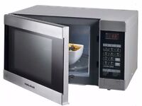 £75 SILVER MORPHY RICHARDS COMBINATION MICROWAVE