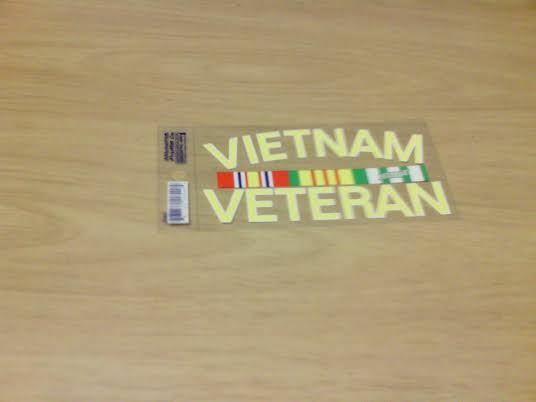 U.S MILITARY usn usmc usaf us army VIETNAM VETERAN  BUMPER STICKER