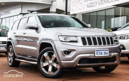 2013 Jeep Grand Cherokee WK MY2014 Overland Silver 8 Speed Sports Automatic Wagon
