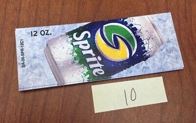 Soda Machine Flavor Strip Labels - Sprite Dr Pepper Aw Mug Orange Free Ship