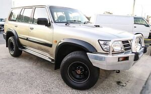 "2001 Nissan Patrol GU II 3.LITRE ST ""3 YEAR WARRANTY"" MANUAL 7 SEATS TURBO DIESEL Gold 5 Speed Underwood Logan Area Preview"