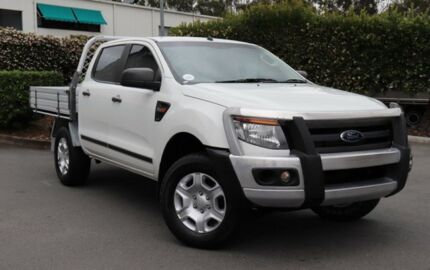 2014 Ford Ranger PX XL Double Cab White 6 Speed Manual Cab Chassis Acacia Ridge Brisbane South West Preview
