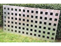 Trellis or garden screen structures - made from aluminium - measures 1metre by two metres