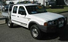 2000 Ford Courier PE XL Crew Cab White 5 Speed Manual Utility Bungalow Cairns City Preview