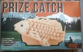 New unopened prize catch build your own Carp / fish construction kit - unwanted gift