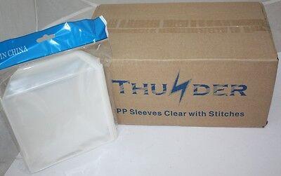 1000pcs THUNDER Cd / Dvd Plastic / Vinyl Sleeve Sleeve Clear W/ Stitches