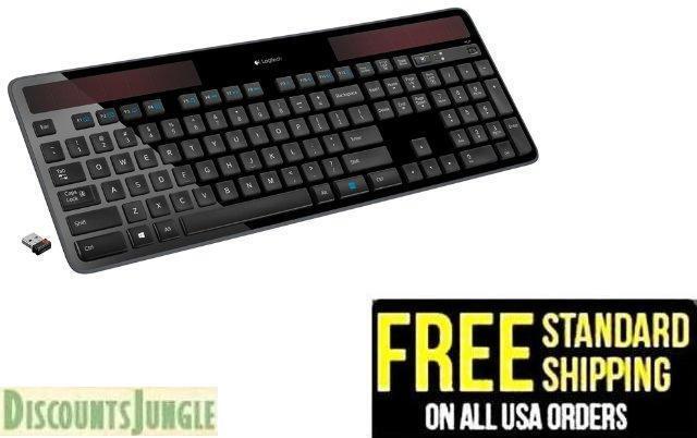 Logitech K750 Wireless Solar Keyboard Recharging 2.4GHz Wire
