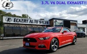 2015 Ford Mustang V6  3.7L WITH DUAL EXHAUST/LEATHER INTERIOR!!