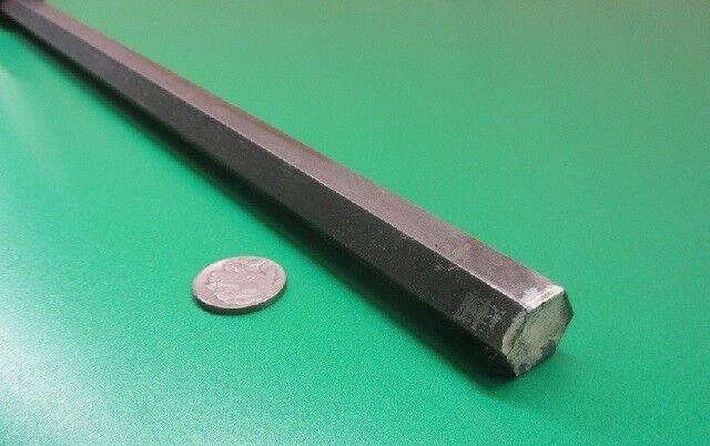 "1215 Carbon Steel Hex Rod 11/16"" Hex x 6 Foot Length"