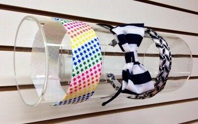 Slatwall Acrylic Headband Holder Display - 5 Diameter 12 Wide Clear