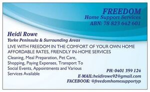 Freedom home support services Kadina Copper Coast Preview