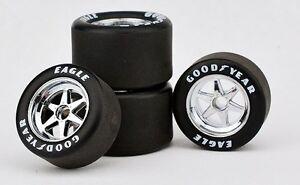 Eagle wheels amp tires march indy 500 race car set 1 18 chrome replicarz