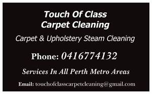Touch Of Class Carpet Professional Steam Cleaning Perth Perth City Area Preview