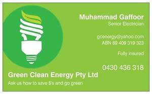 Clean Green Energy Electrical Services Logan Reserve Logan Area Preview
