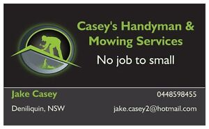 Casey's Handyman & Mowing Services Deniliquin Murray Area Preview