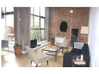 WAREHOUSE CONVERSION 2/3BED FLAT IN LONDON FIELDS**FURNISHED**EXPOSED BRICKWORK**PRIVATE PATIO**