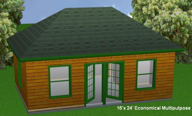 16x24EM Cabin Plans Package, Blueprints, Material List