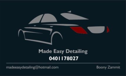 Made Easy Detailing. Automotive detailing
