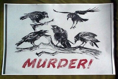 A MURDER OF CROWS REPRINT 11 X 17 ON HEAVY GLOSSY PAPER