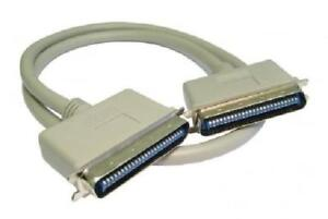 1m SCSI 1 - 50 Pin Centronic M to M Cable - USED - Beige