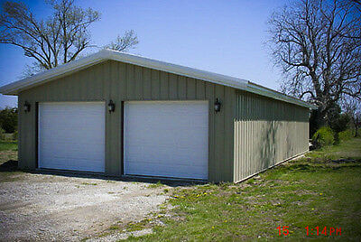 30x60x12 Steel Garageworkshop Building Kit Excel Metal Building Systems Inc