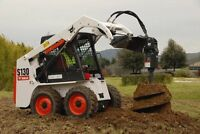 SKIDSTEER FENCE POST HOLE / PILE / ANCHOR DRILLING SERVICE!