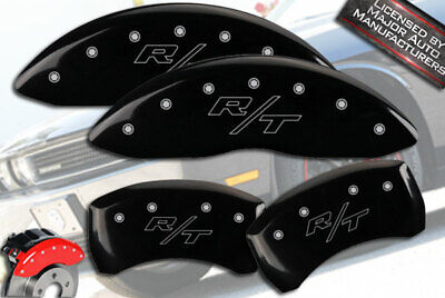 """2011-2020 Dodge Challenger """"R/T"""" Front + Rear Black MGP Brake Caliper Covers Out"""