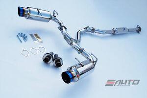 INVIDIA N1 101mm Dual Titanium Tip Catback Exhaust BRZ FRS FR-S