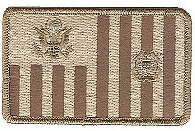 Coast Guard ensign subdued desert tan brown W5070 USCG Coast Guard patch