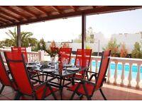Villa holiday rental Playa Blanca Lanzarote