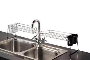 Home Basics NEW Chrome Over the Sink Sturdy Sponge Shelf Organizer Rack- SS41025