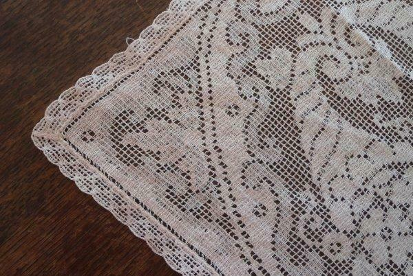 True Vintage Nottingham Lace Tray Doily Placemat Art Deco Floral