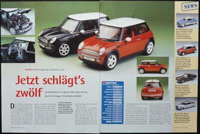 SAMMELN BMW MINI COOPER ONE  in 1-12 von REVELL.... ein Modellbericht gebraucht kaufen  Deutschland