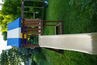 Costco Children's Play Set w/ Swings, Slide & Rock Wall