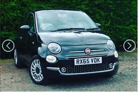 BLACK FIAT 500 1.2 LOUNGE 3DR (START/STOP) WITH SAT NAV & TOUCH SCREEN DISPLAY