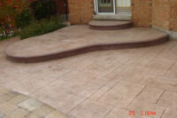 CONCRETE FINSHES IN STAMPED PLAIN AND  EXPOSED