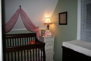 Solid Wood Convertible Crib and Dresser London Ontario image 2