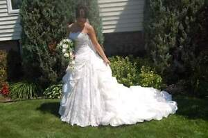 Maggie Sottero Wedding Gown with veil