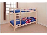 Alex Natural Varnished fantastic brand new bunk bed still packed made of solid wood